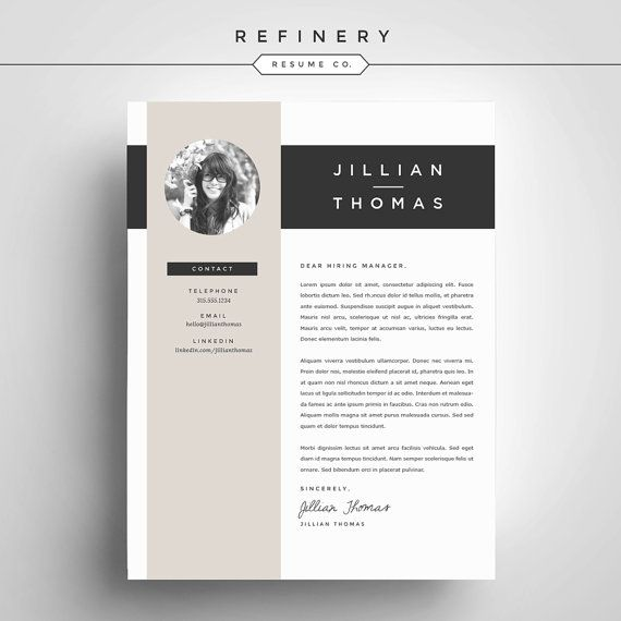 Creative Resume Template and Cover Letter Template for Word | DIY ...