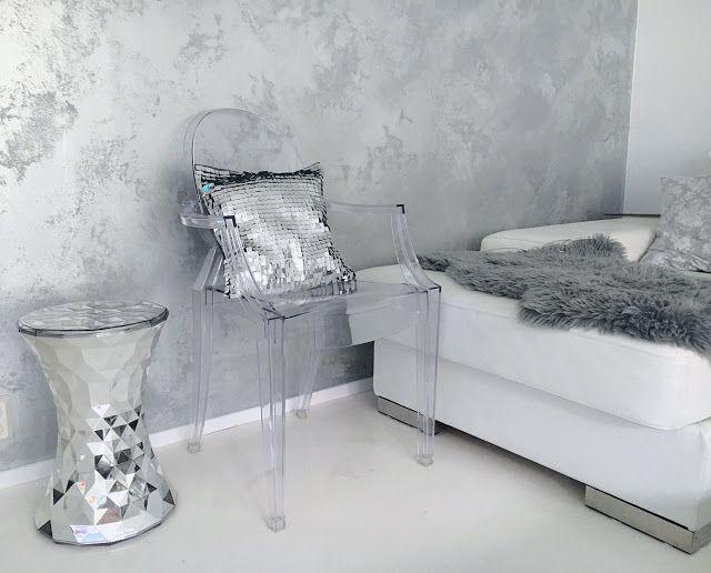 white interior, valkoinen olohuone