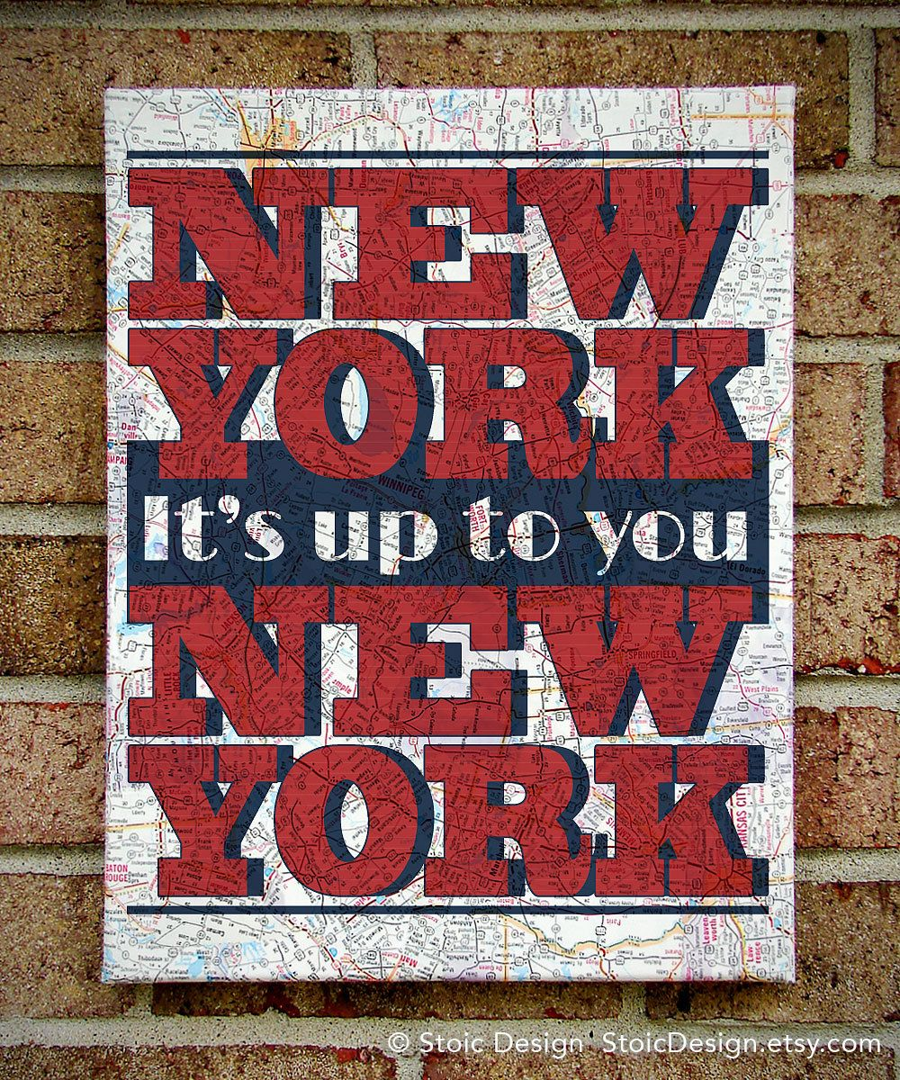 It's up to you, New York
