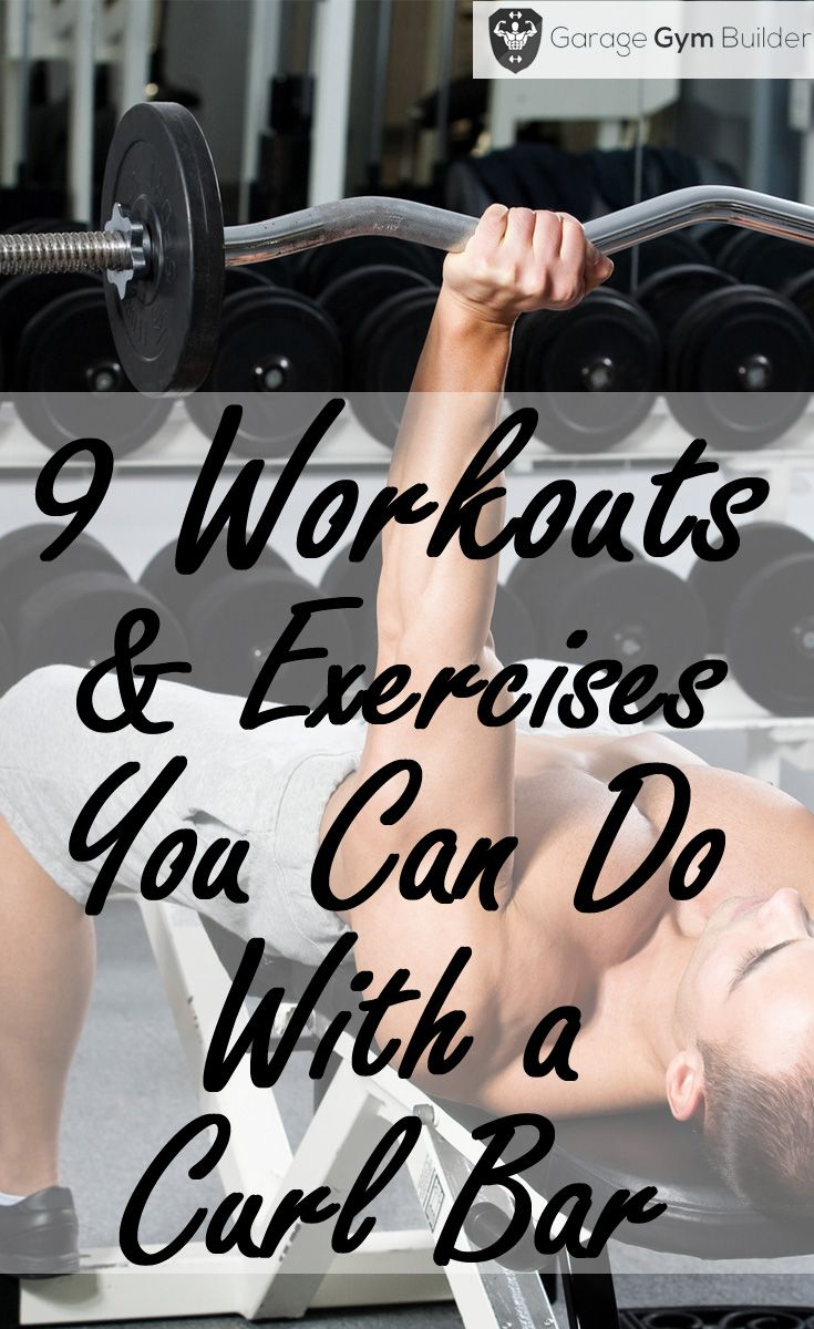 Best exercises you can do with a curl bar workout & fitness bar