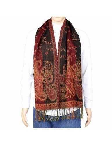 artisanat de l 39 inde longue charpe en laine pour hommes tole multicolore motifs cachemire. Black Bedroom Furniture Sets. Home Design Ideas