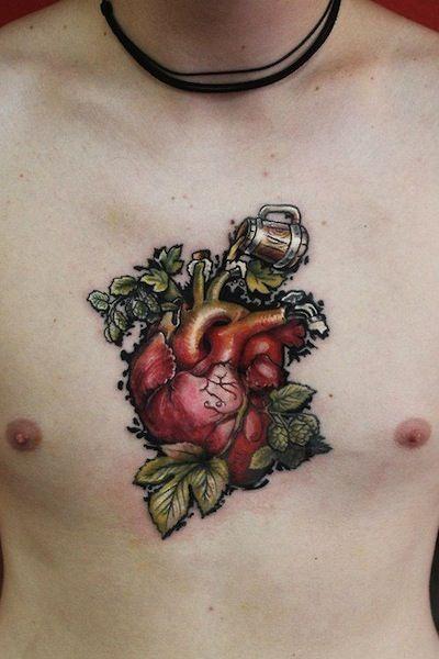 tattoo by Aleksei Bikowski | heart tattoos