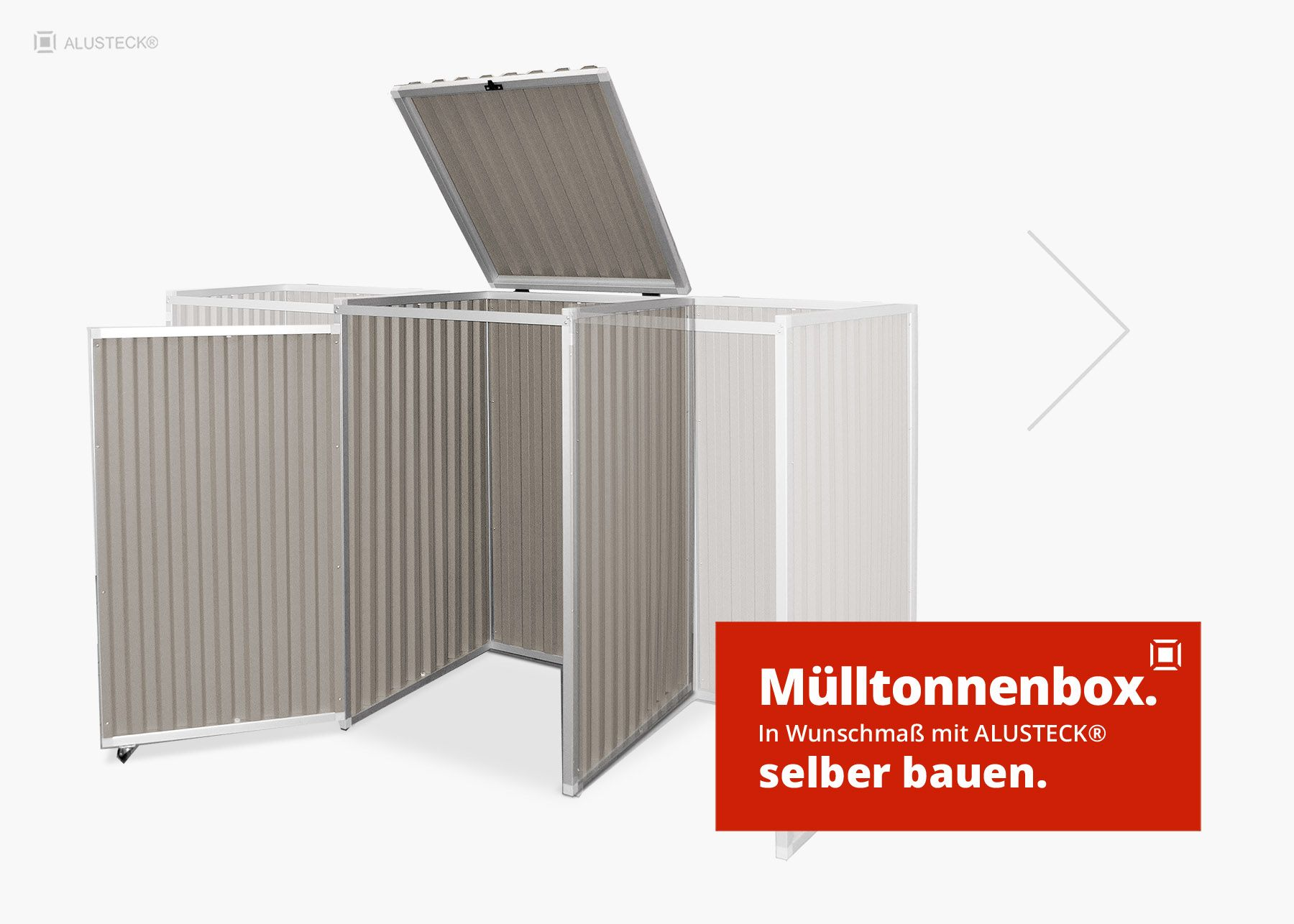 Beliebt Mülltonnenbox selber bauen mit ALUSTECK® Bauanleitung JW75