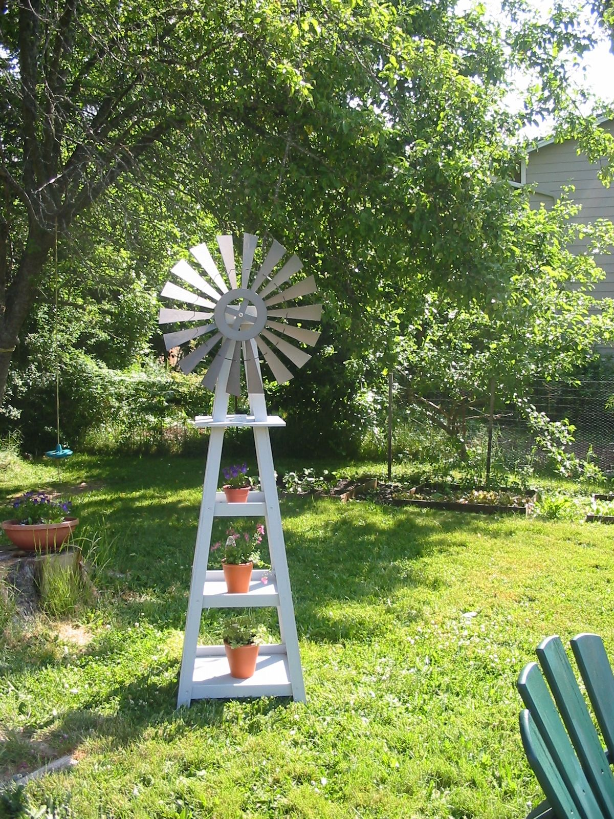 Garden windmill in 8  Garden windmill, Backyard windmill, Yard