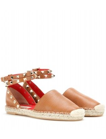 0d5b23214a6 Valentino - Rockstud Double leather espadrilles - The breathable ...