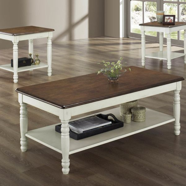 woodbridge home designs ohana 3 piece coffee table set reviews