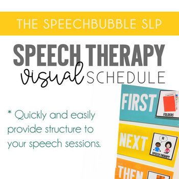 Quickly and easily provide structure to your speech sessions. A visual schedule is a simple but powerful tool you can use to help students understand your speechie expectations. Just print, laminate, and you're all set.