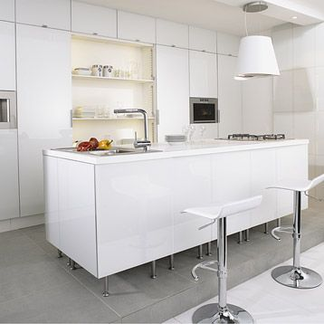 Meuble De Cuisine Delinia Composition Type Neige Blanc Calcaire