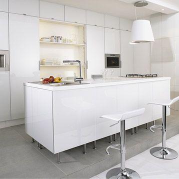 Meuble de cuisine delinia composition type neige blanc - Meuble cuisine leroy merlin delinia ...