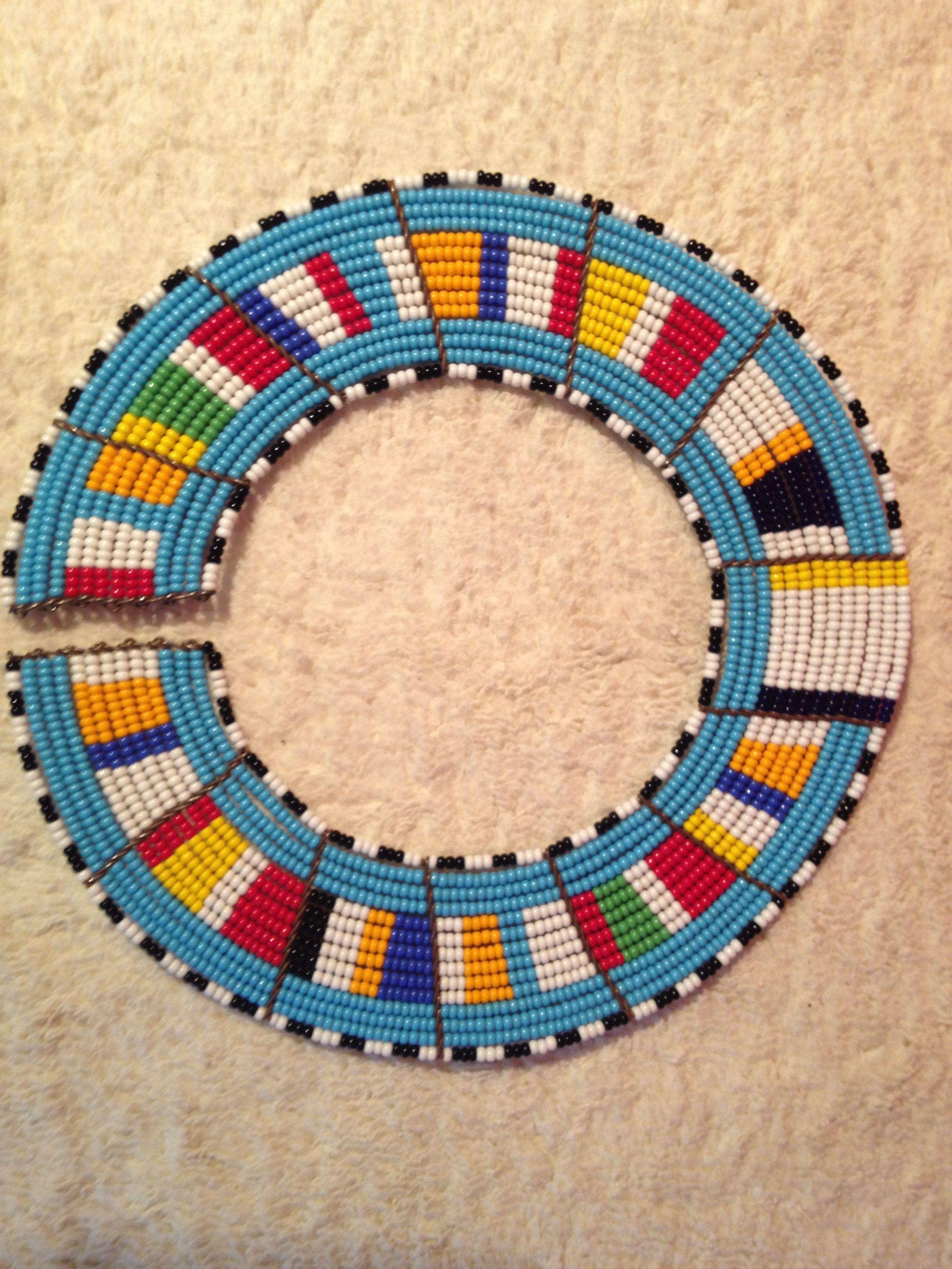 Masai Necklace Safari Pinterest Beads And Craft