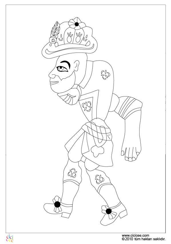 Hacivat Karag Z Boyama Boyama Sayfalari Sanat Desenler