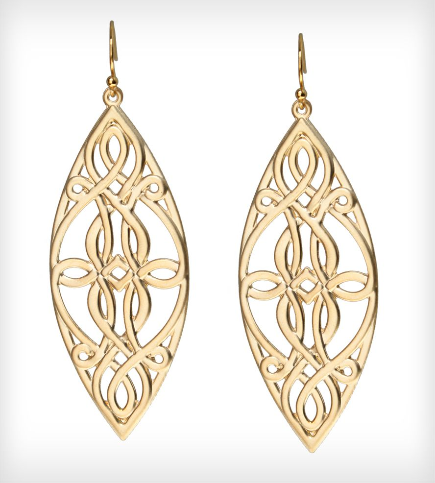 Gold Celtic Earrings Gold
