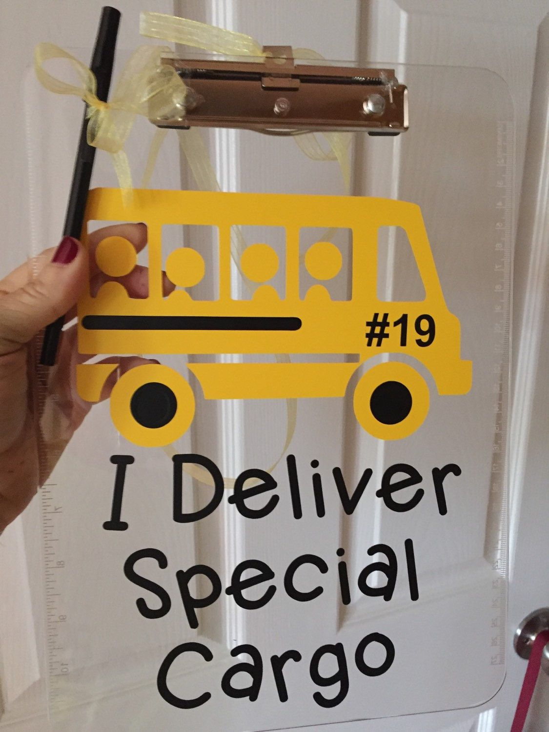 Bus Driver Gift Personalized Clipboard I Deliver Special Cargo Or Volleyball Dance Soccer Any Sport Clear Or Storage Clipboard Case Bus Driver Gifts Bus Driver Bus Driver Appreciation