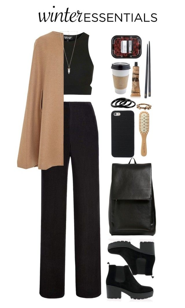 """""""don't pretend it's not cold outside"""" by deandelaina on Polyvore featuring Topshop, Oscar de la Renta, Marni, Michael Van Clarke, Furla, Forever 21, Amber Sceats, Aesop and Brooks Brothers"""