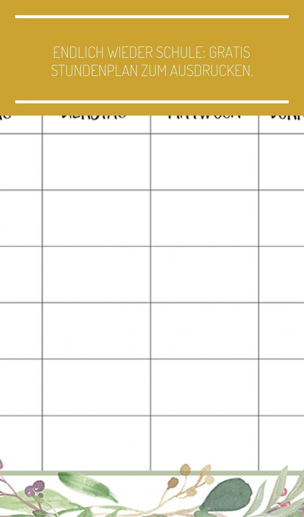 Ein Kostenloser Zeitplan Zum Ausdrucken Titatoni De Works Lehrer Endlich In 2021 Stundenplan Ausdrucken Stundenplan Ausdrucken