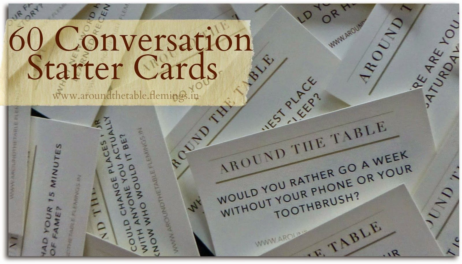 Table Book 60 Printable Conversation Starters