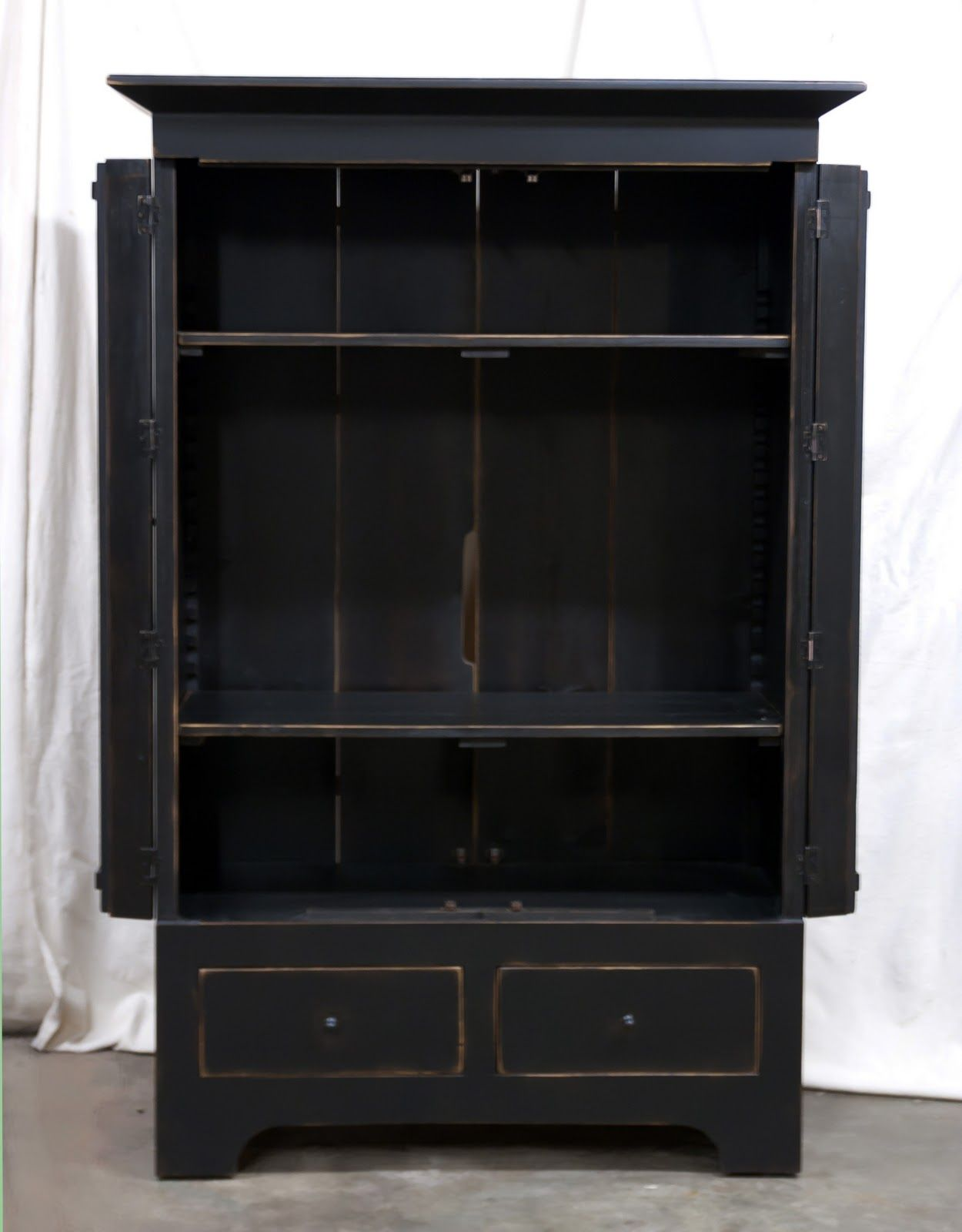 Rustic black armoire. | Somewhere to settle down | Pinterest