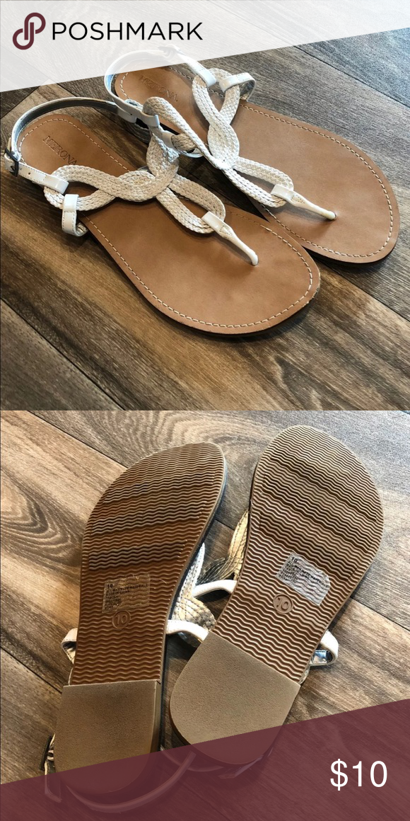 81f09f832 Women s sandals White sandals from target. Great condition! Size 10 Merona Shoes  Sandals