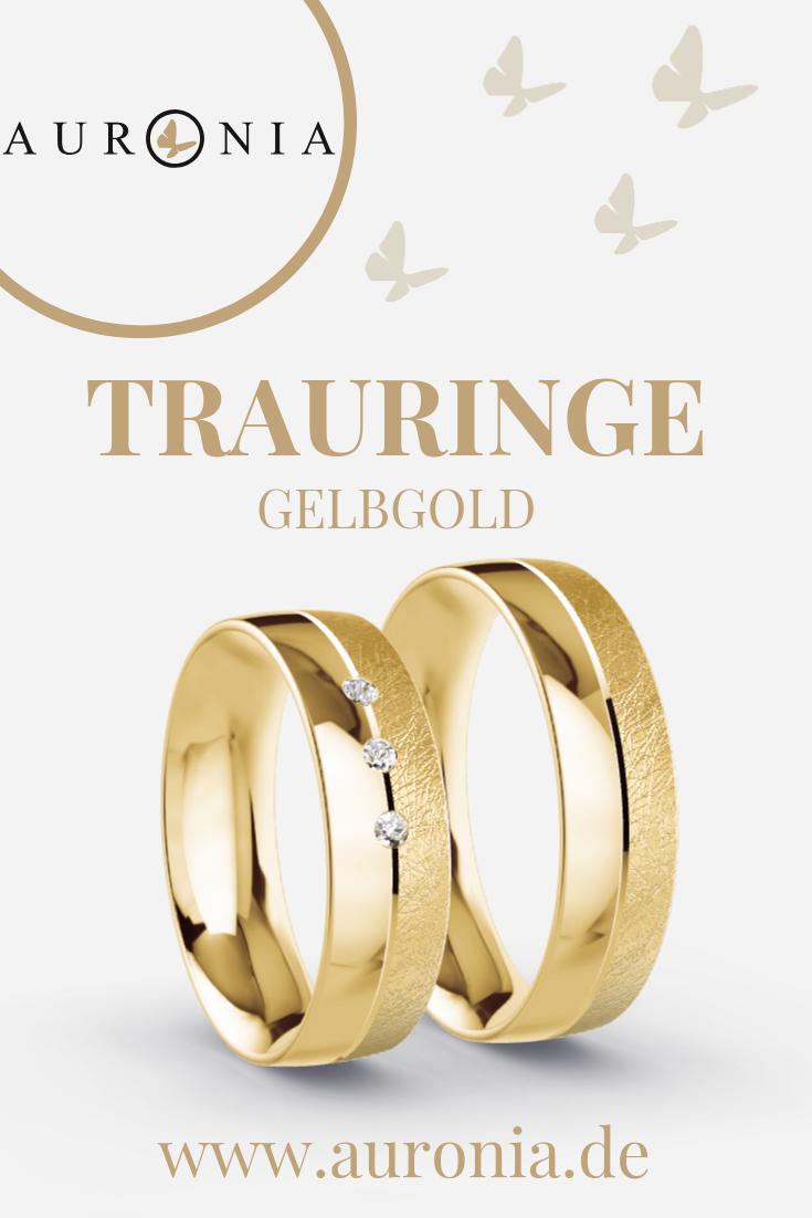Trauringe Gelbgold 14 - 14.146 ct. Diamanten - Modell Bremen
