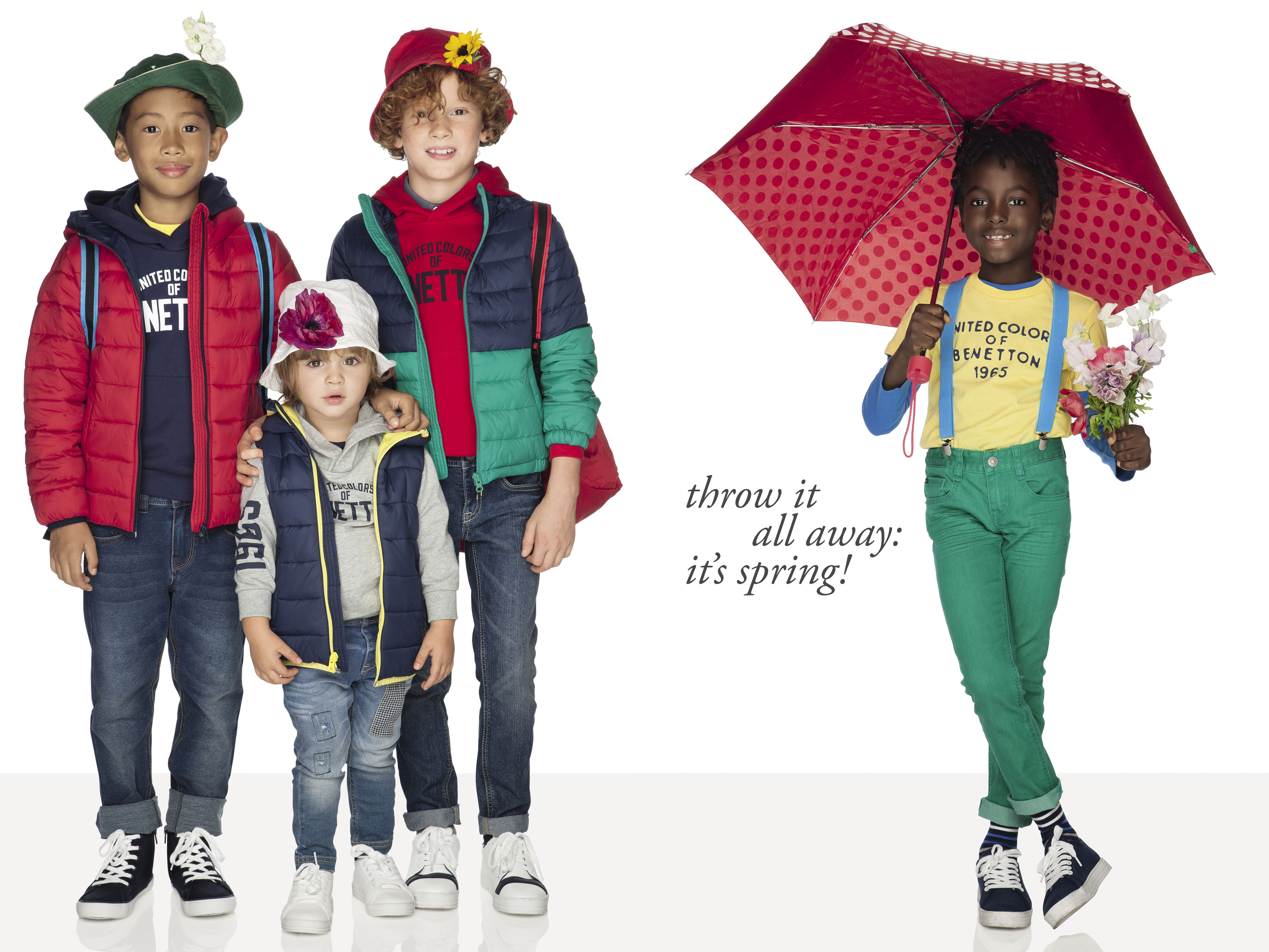 8c58605346d Throw it all away: it's spring! #Benetton #kids #collection #spring ...