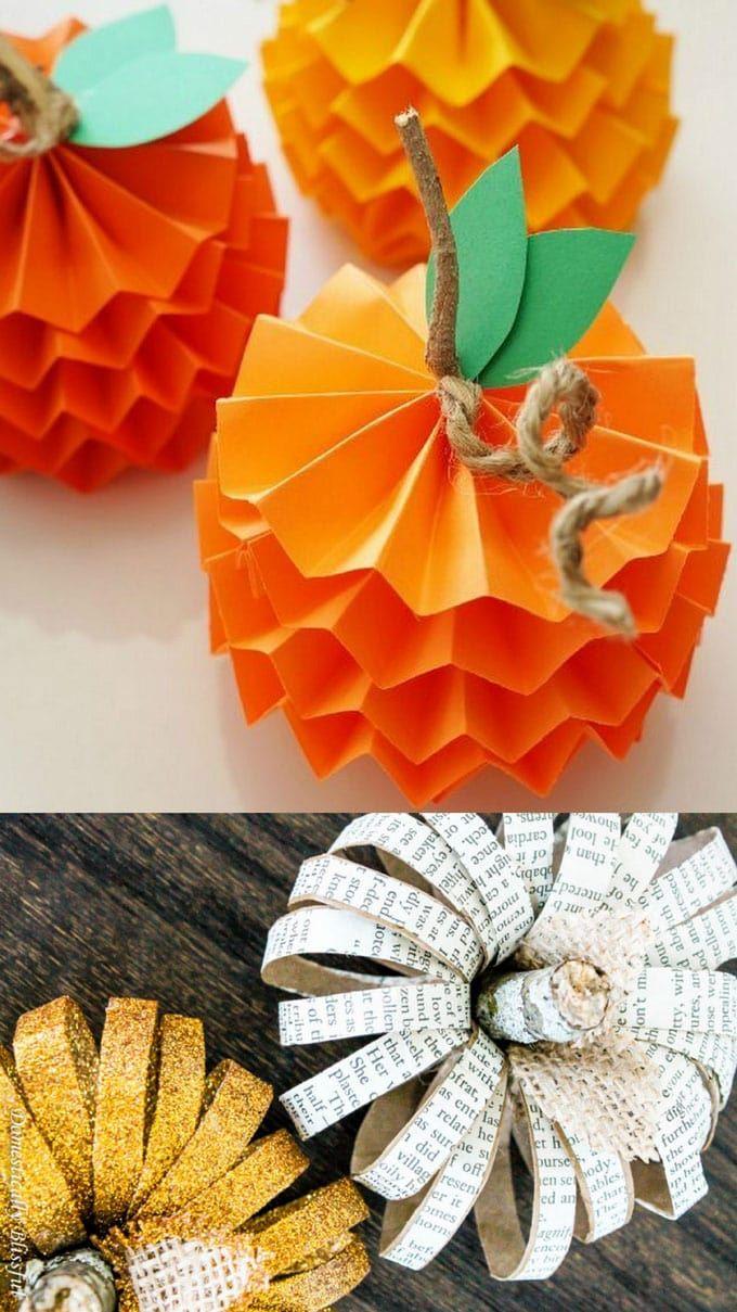 20+ Easy & Grogeous DIY Pumpkin Decorations {Mostly Free