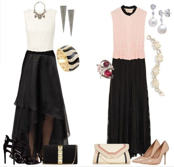 Black Long Skirt Formal Occasion | Fashion. | Pinterest | Dressy ...