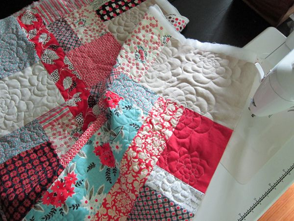 Chrysanthemum Quilting tutorial by StitchedInColor, via Flickr