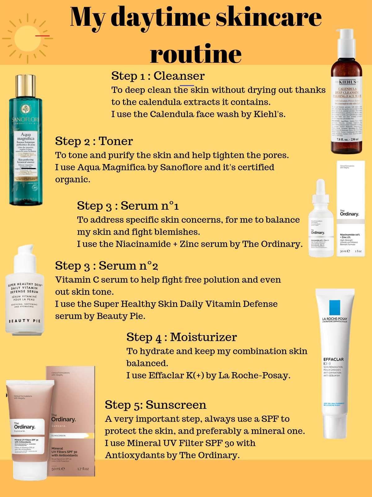 Skincare Tips My Morning Skincare Routine For Combination Skin Skincareroutine In 2020 Schoonheidstips Huidverzorgingsproducten Schoonheid Routines