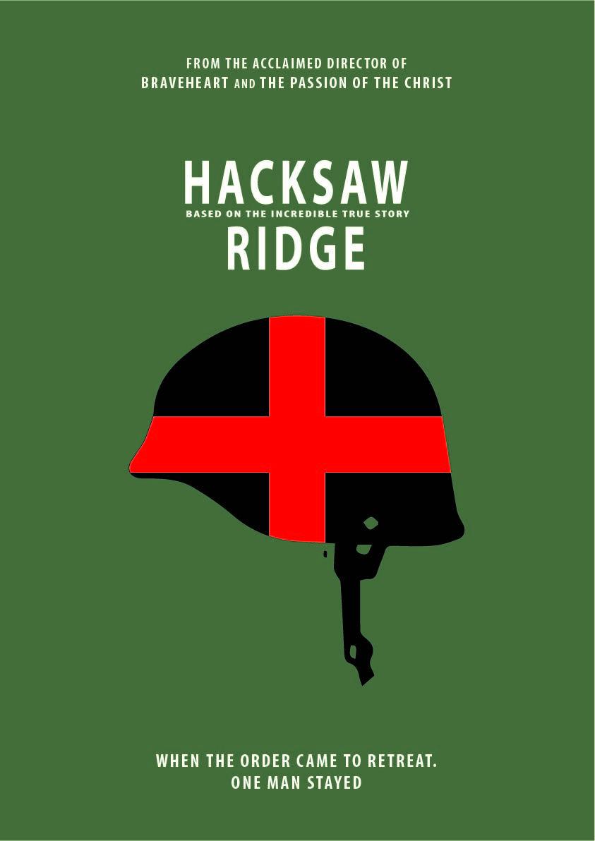 Eating Our Way Through Wisconsin Film_16 >> Hacksaw Ridge Minimalist Afis Graphic Design