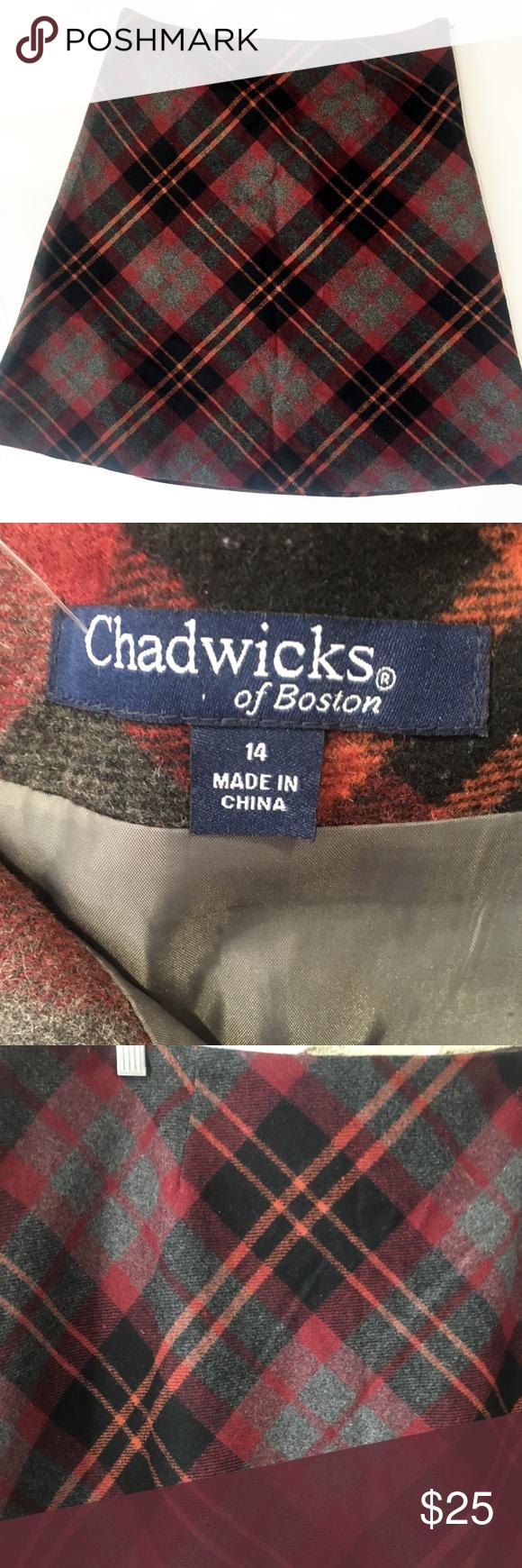 Chadwick's Plaid Full Skirt sz 14 Chadwick's Full circle skirt. Size 14. Red plaid. EUC. Chadwicks Skirts #fullskirtoutfit
