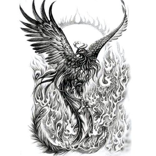Wzór Tatuażu Feniks Monika Tatuaże Tattoo Tatuaże Z