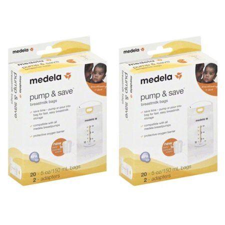 Medela Pump and Save Breastmilk Bags 20 Count