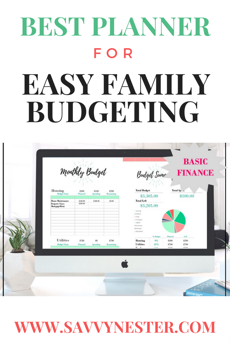 finance budgeting monthly planner 2018 expense spreadsheet
