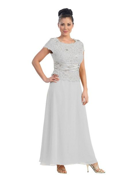 880f09ce11a Lovely exciting silver plus size mother of the bride dresses with sleeves  trendy gowns