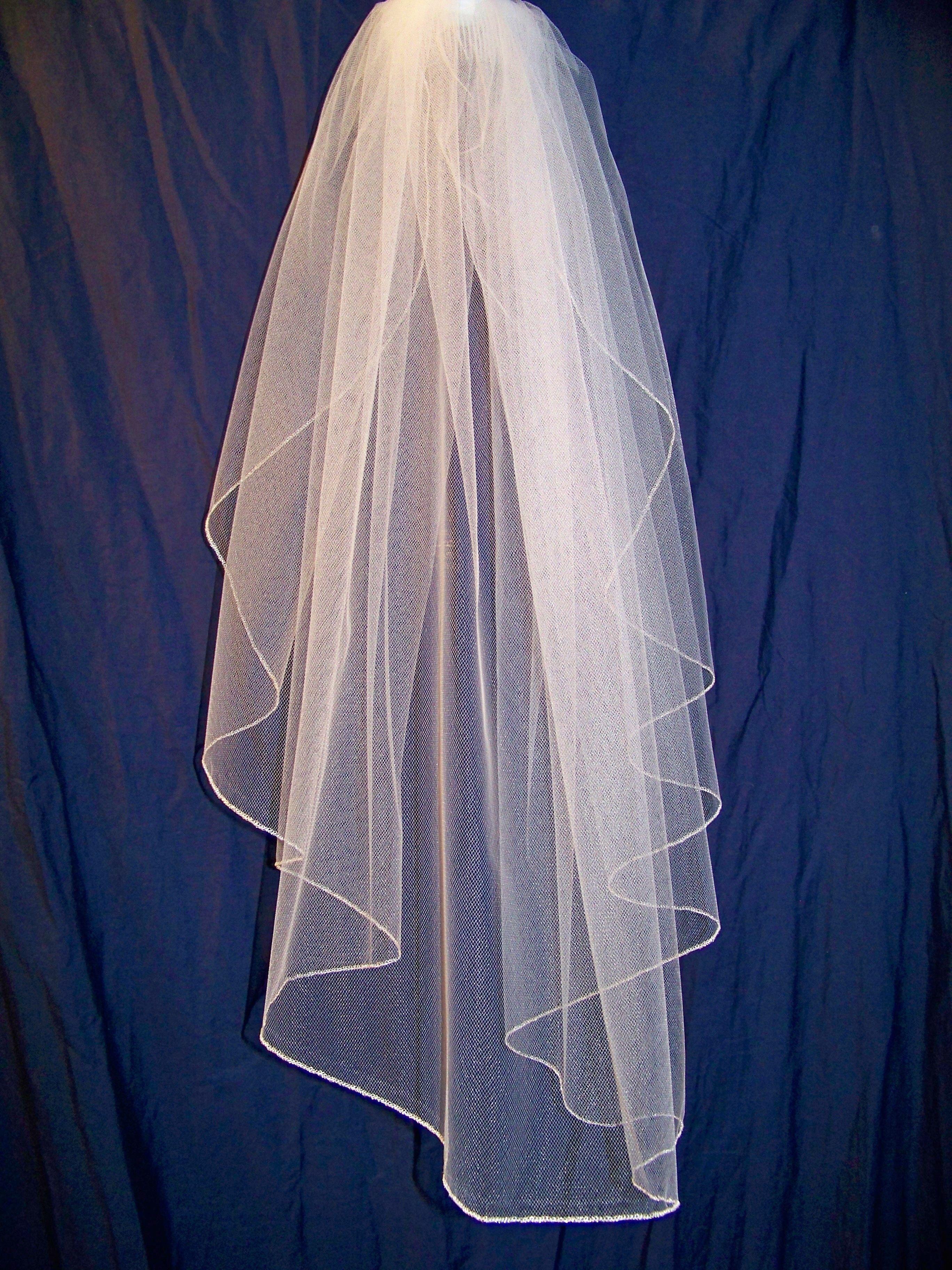 Step 2a Veil Shape Wedding veils, Diy wedding veil