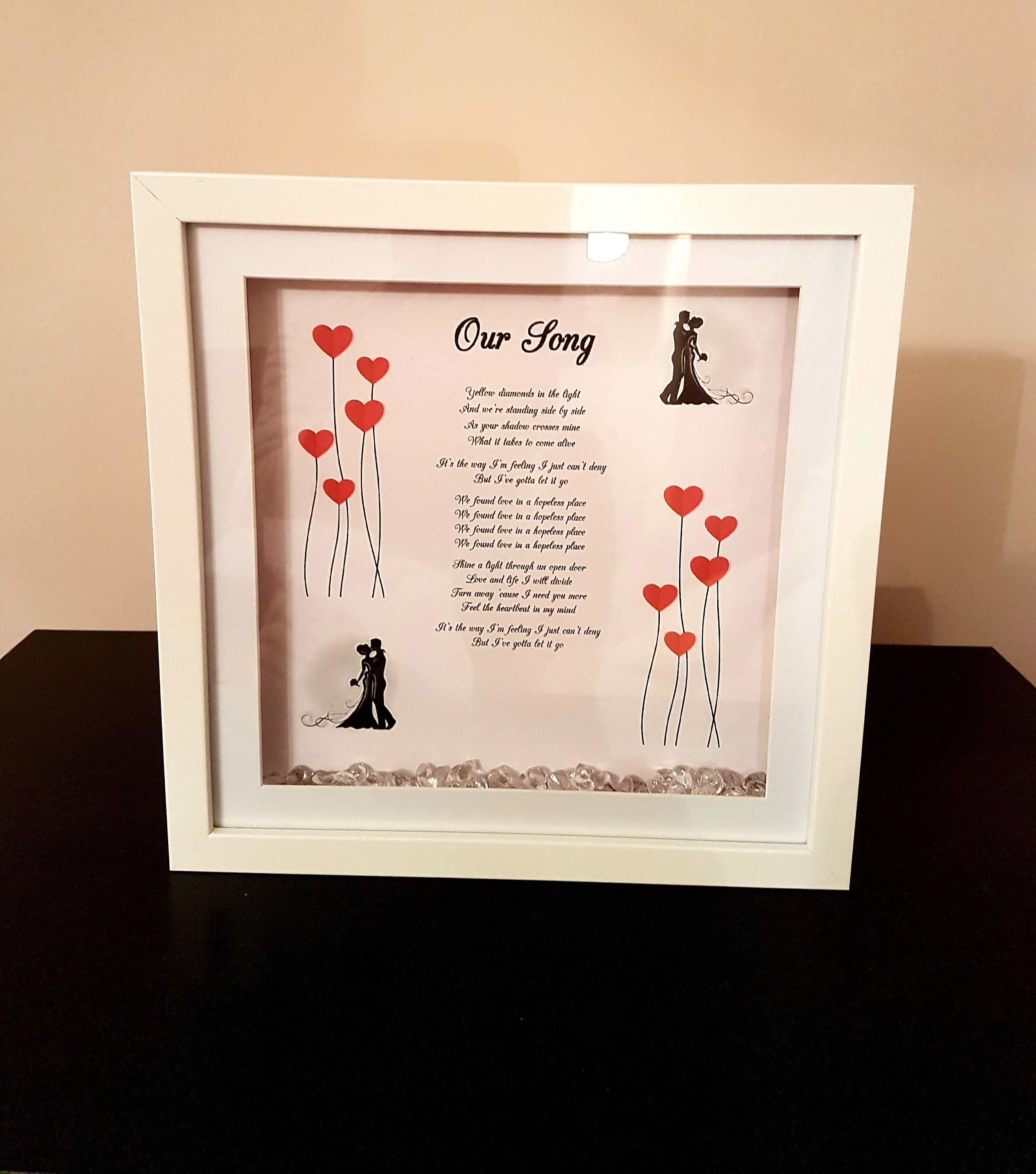First Dance Or Our Song 3d Box Frame Keepsake 3d Box Frames Box Frames Frame