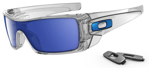 Oakley Batwolf Sunglasses With Clear Frame And Ice Iridium