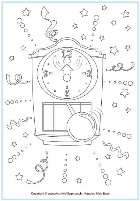 Kleurplaat Nieuwjaar Gelukkig Nieuwjaar Pinterest Clocks