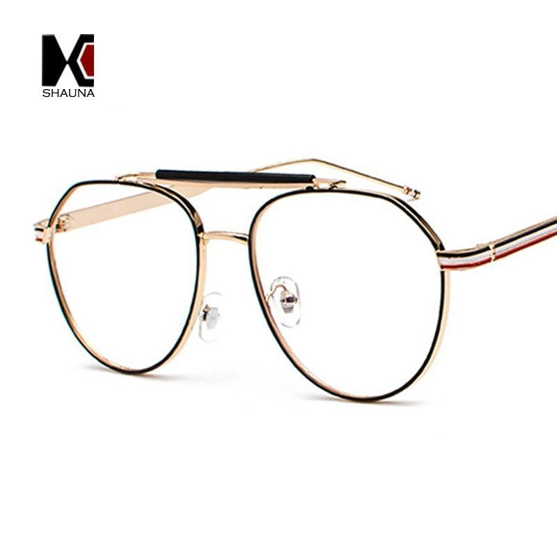 9f5154900d73 Fashion women round glasses frame brand designer retro men double bridges clear  lens eyeglasses  frames