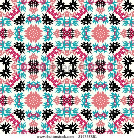 beautiful colored abstract seamless pattern vector illustration