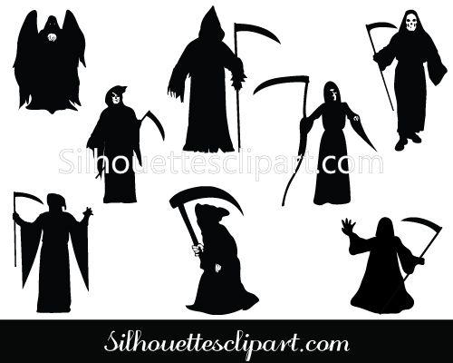Grim Reaper Silhouette Vector Graphics Download Silhouette Vector Grim Reaper Halloween Vector