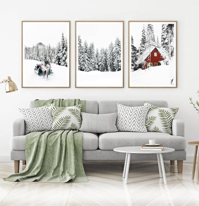 Winter Wonderland Printable Set Of 3 Piece Christmas Gallery Etsy Christmas Gallery Wall Christmas Wall Art Palm Tree Wall Art