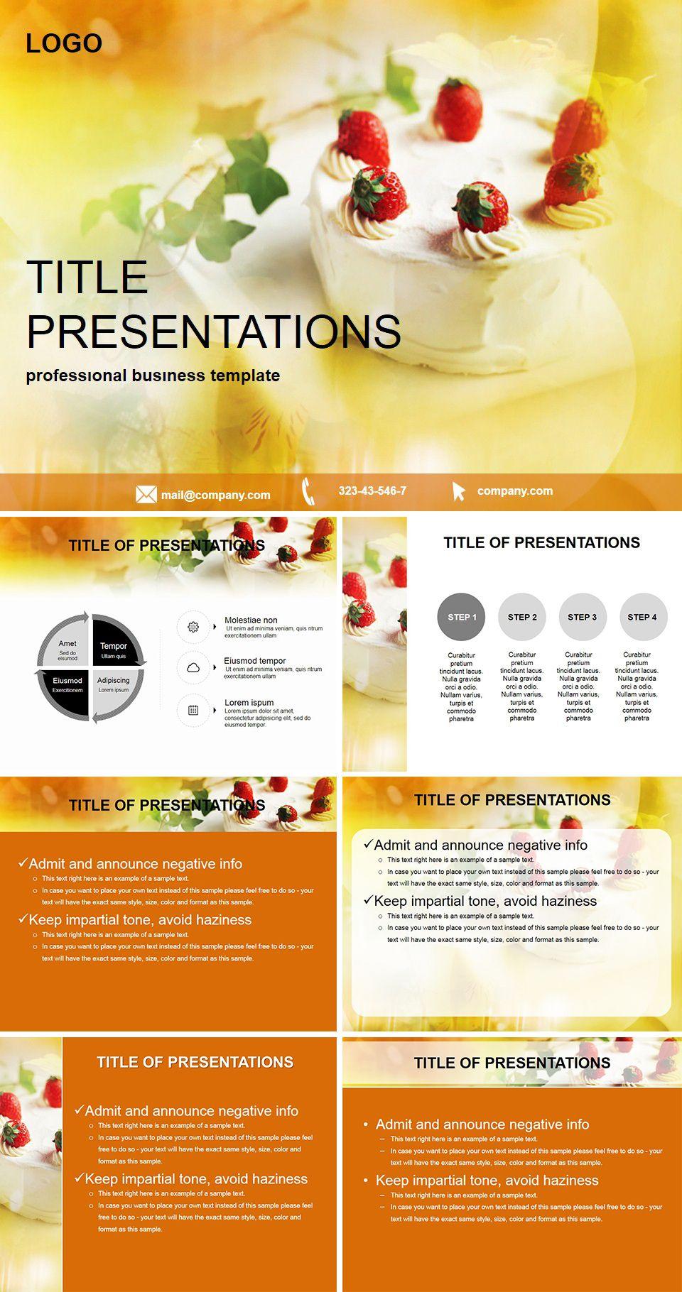 Cake for dessert PowerPoint templates
