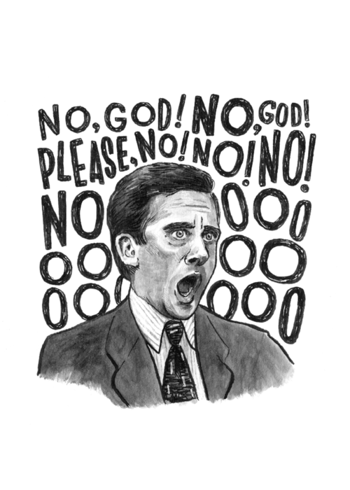 Michael Scott Quote Illustration