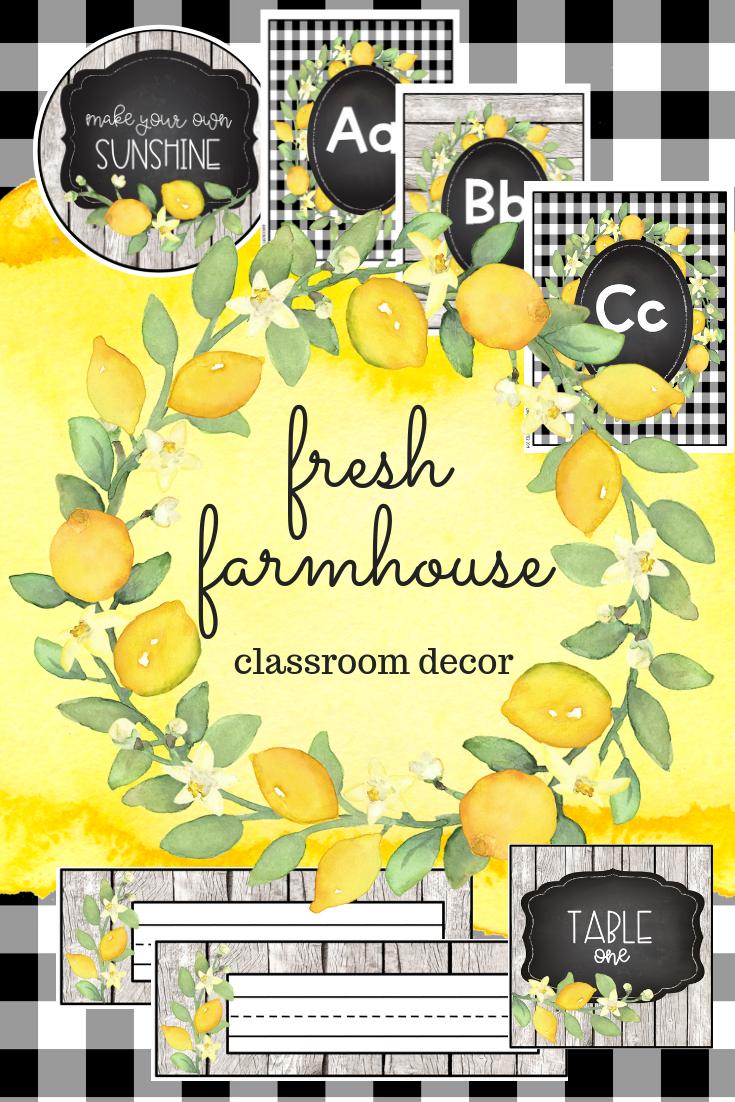 Farmhouse Classroom  #classroomdecor