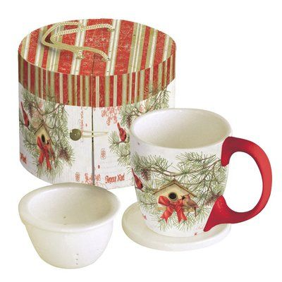 Lang 11 Oz Cardinal In Pines Tea Cup In 2020 Tea Cup Set Tea Cups Cup Gift Set