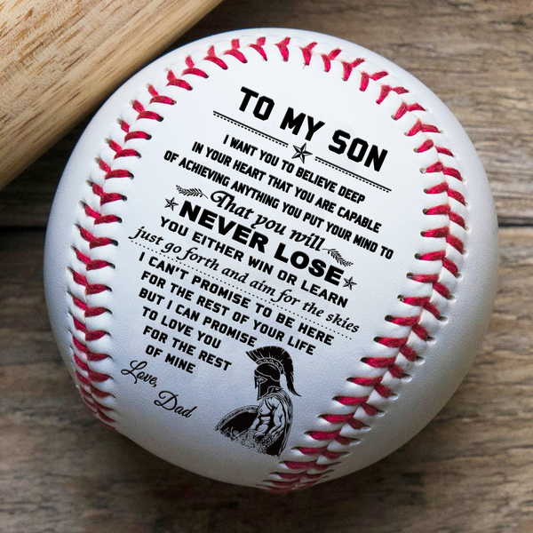 Bb26 Lda Spartan Baseball Vecter Dad To Son Never Lose Free Shipping From 2 Items In 2020 Baseball Quotes Funny Baseball Quotes Baseball Balls