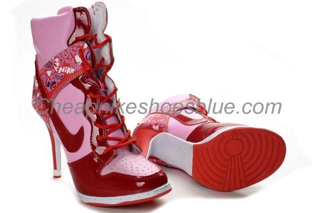 2967a6e8710 cartoon high heel High Tops | Cheap Nike Heels Boots Sale From Best ...