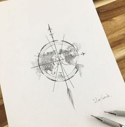 Tattoo compass earth tat 44+ Ideas #tattoo