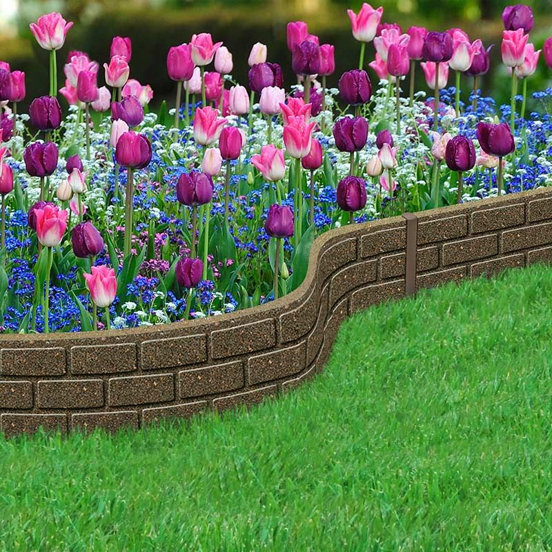 Border Bricks Recycled Rubber Lawn Edging Border Path Driveway Landscaping